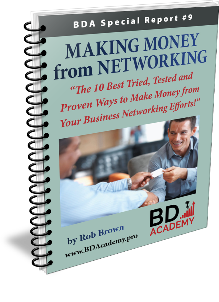 BDA - Make Money from Networking by Rob Brown