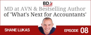 Shane Lukas on the BD Academy top 100 club accounting podcast with Rob Brown