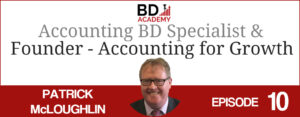 Pat McCloughlin on the BD Academy top 100 club accounting podcast with Rob Brown