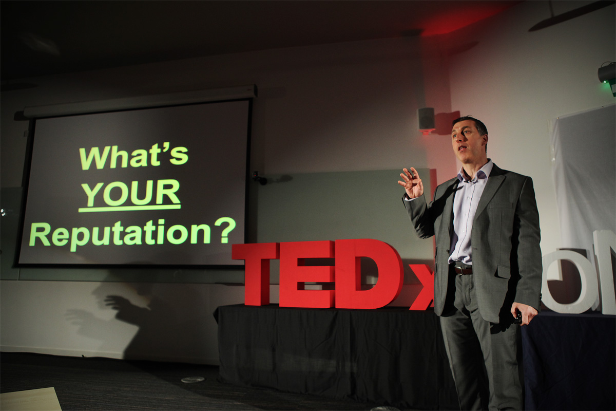 Ted talk the personal brand of you with podcast host Rob Brown keynote speaker, event MC, BD Academy founder