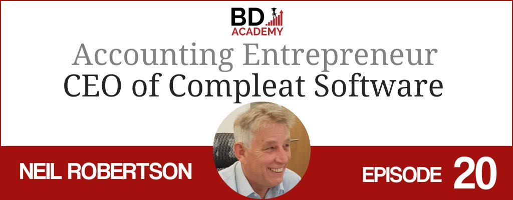 Neil Robertson on the BD Academy top 100 club accounting podcast with Rob Brown