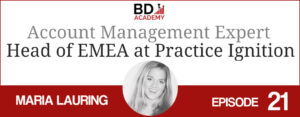 Maria Lauring on the BD Academy top 100 club accounting podcast with Rob Brown