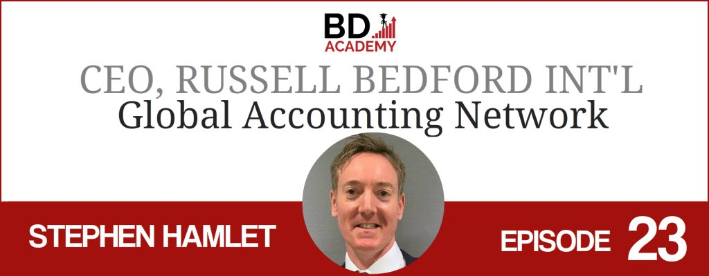Stephen Hamlet on the BD Academy Accounting Influencers podcast with Rob Brown