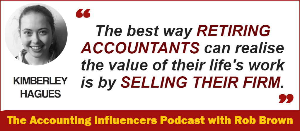 Kimberley Hagues on the BD Academy Accounting Influencers podcast with Rob Brown