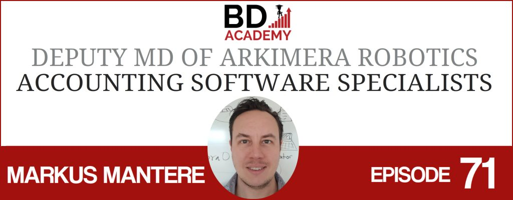 markus mantere on the BD Academy Accounting Influencers podcast with Rob Brown
