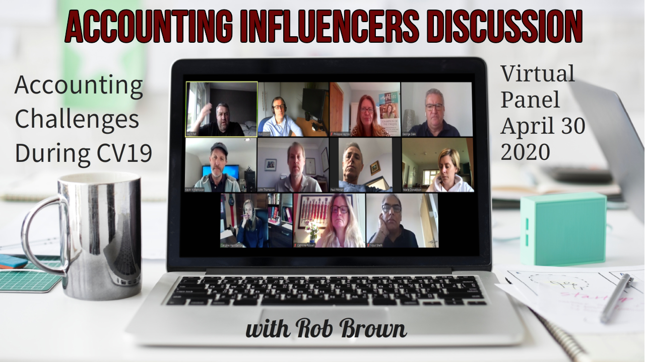 high impact virtual panel discussions with accountancy influencers and leaders for accountants on accounting firm work winning and business development from Rob Brown