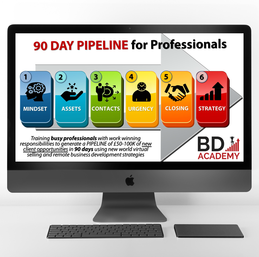90 Day Pipeline lead generation and business development training program from Rob Brown and the BD Academy for accountants, lawyers and consultants